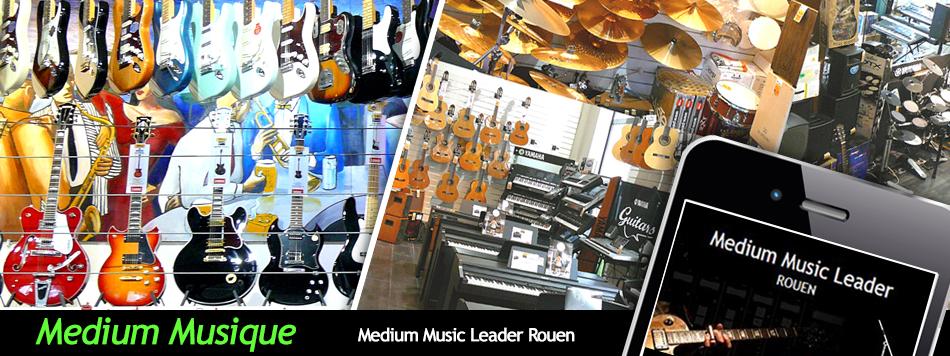 medium music leader magasin de musique rouen sur commerces en sc ne. Black Bedroom Furniture Sets. Home Design Ideas