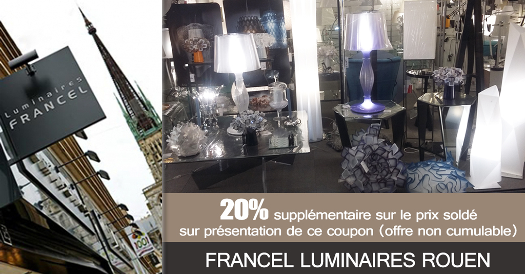 20% supplémentaire sur prix soldé chez Francel Luminaires*