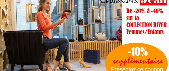 Chaussures JEAN, 10% de remisesupplémentaire sur promos en cours