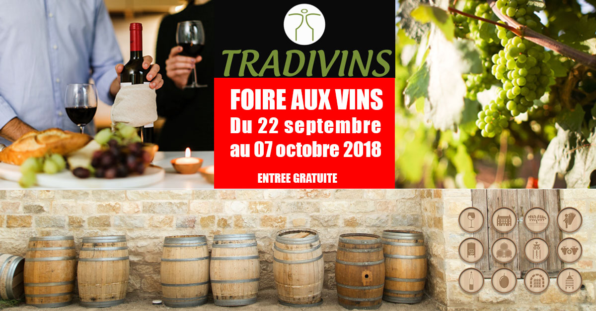 foire aux vins tradivins septembre 2018