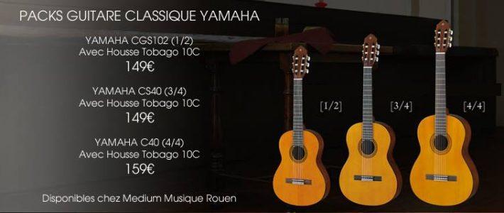 Packs guitare classique Yamaha chez Medium Musique