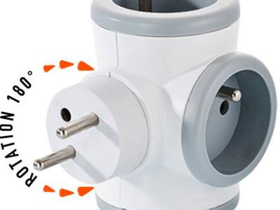 Triplite rotative WATT&CO – Rotation 180° – 7.90€