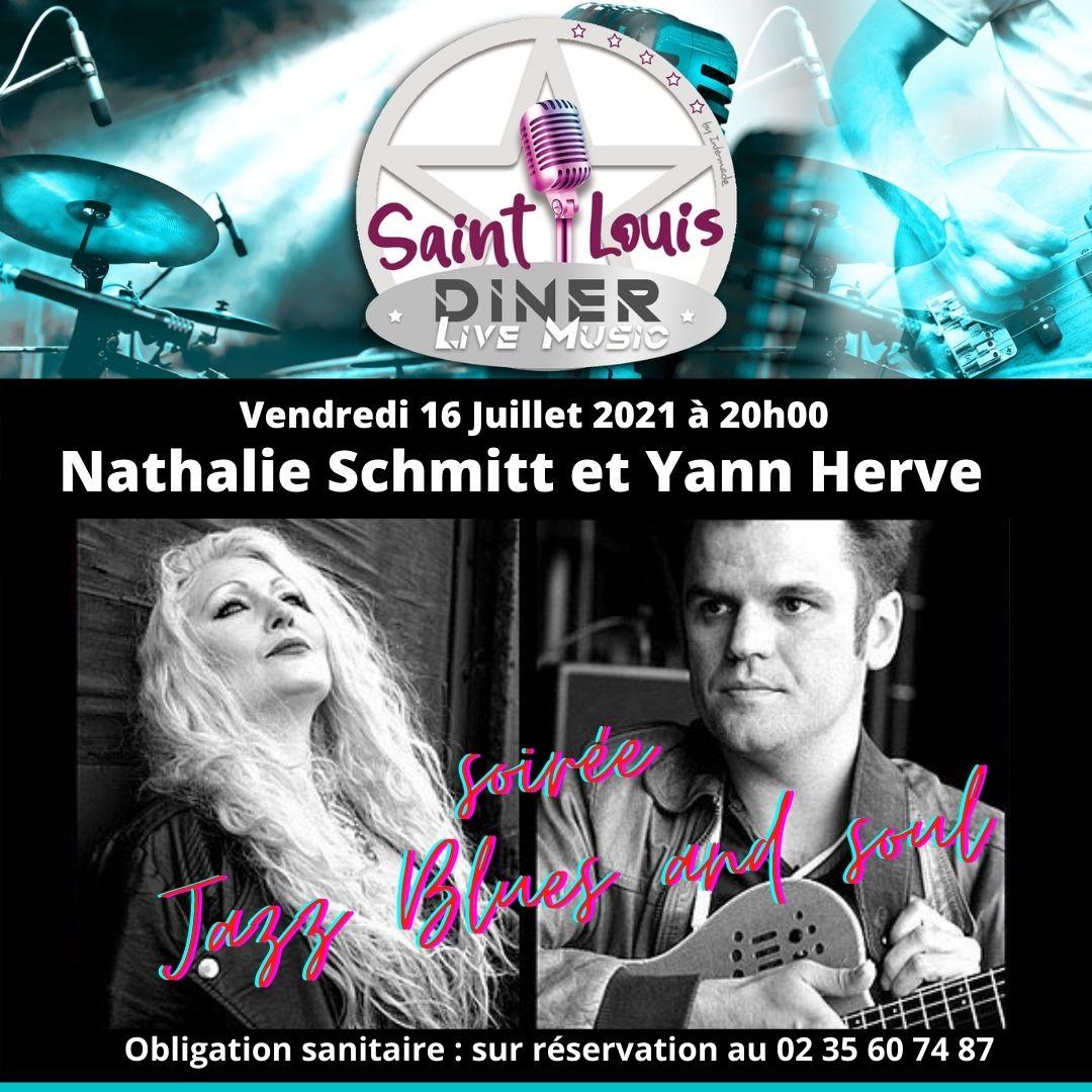 Vendredi 16 Juillet 2021 à 20h00 Nathalie Schmitt et Yann Hervé